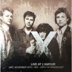 X - Live At L'Amour - NYC, November 26th, 1983 - KBFH FM Broadcast - Double LP Vinyl Album