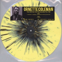 Ornette Coleman ‎– Town Hall, New York City, December 21st, 1962 - LP Vinyl Album - Coloured Marbled - Free Jazz