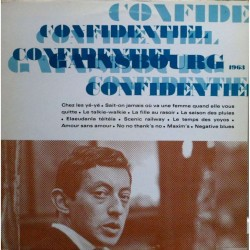 Serge Gainsbourg ‎– Confidentiel - LP Vinyl Album - French Songs - USA Pressing