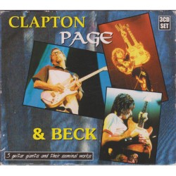 Clapton, Page & Beck ‎– 3 Guitar Giants And Their Seminal Works - Box 3 CD Abum - Blues Rock