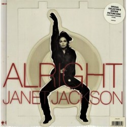 Janet Jackson ‎– Alright - Vinyl 7 inches - Picture Disc Edition - Pop Music Hip Hop