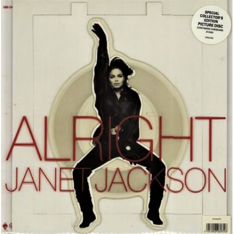 Janet Jackson – Alright - Vinyl 7 inches - Picture Disc Edition - Pop Music Hip Hop