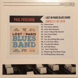 Paul Personne ‎– Lost In Paris Blues Band - CDr Album Promo - French Blues
