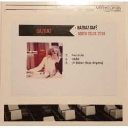 Bazbaz – Bazbaz Café - CDr Single Promo - French Pop Music