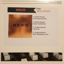 Marillion ‎– Fear - CDr Single Promo - Progressive Rock
