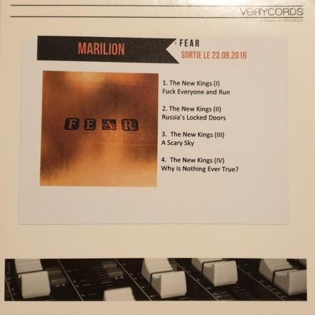 Marillion – Fear - CDr Single Promo - Progressive Rock