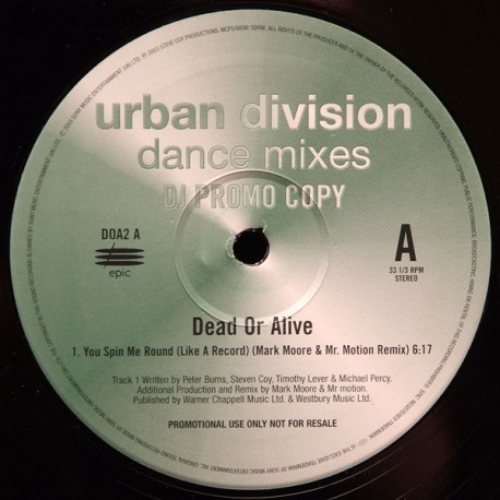Dead Or Alive – You Spin Me Round (Like A Record) - Maxi Vinyl 12 inches - Synth Pop Dance
