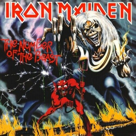 Iron Maiden - The Number Of The Beast - LP Vinyl Album - Limited Edition 1982 - Heavy Metal