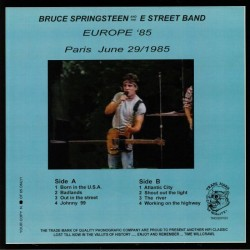 Bruce Springsteen and The E Street Band - Europa 85 - Live - Numbered - LP Vinyl Album