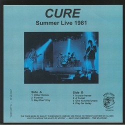 The Cure - Summer Live 1981 - LP Vinyl Album - Limited Edition - New Wave