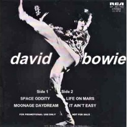 David Bowie ‎– Space Oddity, Moonage Daydream, Life On Mars?, It Ain't Easy - Vinyl 7 inches 45RPM