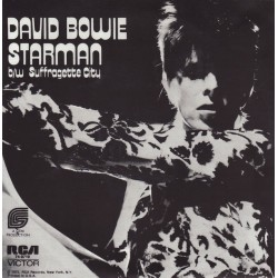 David Bowie ‎– Starman b/w Suffragette City - Coloured Green Marbled - Glam Rock