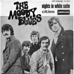 The Moody Blues ‎– Nights In White Satin - 7 inches Vinyl - Psychedelic Blues
