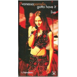 Vanessa Paradis ‎– Gotta Have It (Live Version) - CD Mini Single Japan 3 inches - French Pop Music