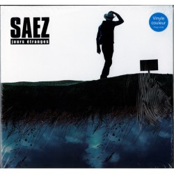 Saez ‎– Jours Étranges - Double LP Vinyl Album - Coloured Blue - Rock Français