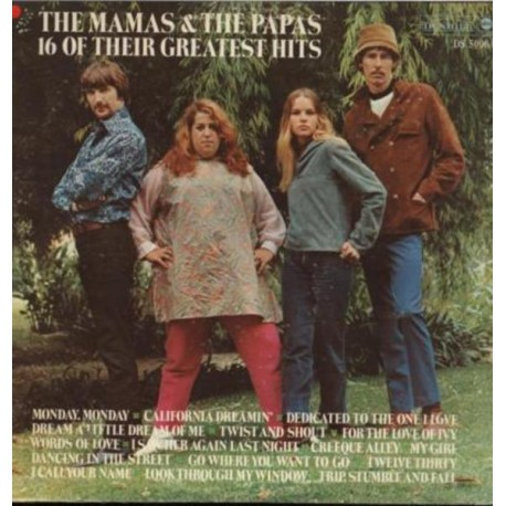 The Mamas & The Papas ‎– 16 Of Their Greatest Hits - LP Vinyl Album - Folk Music