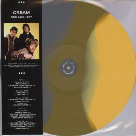 Cream ‎– Cream BBC 1966 -1967 - LP Vinyl Album - Coloured - Electric Blues