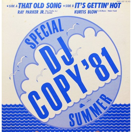 Ray Parker Jr.- Kurtis Blow ‎– That Old Song - It`s Getting Hot - Disco Sampler - Promo Japan - Maxi Vinyl 12 inches - Funk