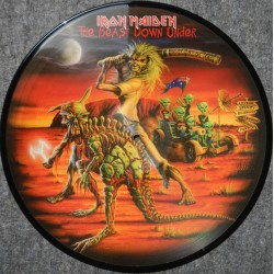 Iron Maiden ‎– The Beast Down Under - LP Vinyl Album - Picture Disc - Heavy Metal