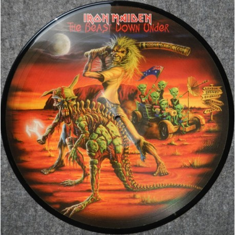 Iron Maiden – The Beast Down Under - LP Vinyl Album - Picture Disc - Heavy Metal