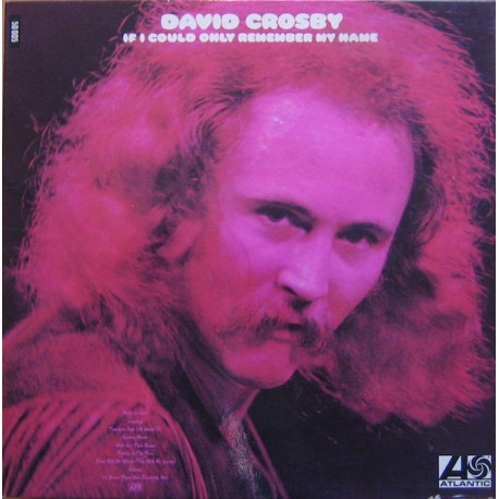 David Crosby – If I Could Only Remember My Name - LP Vinyl Album Gatefold - Folk Rock