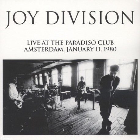 Joy Division ‎– Live At The Paradiso Club Amsterdam, January 11, 1980 - Lp Vinyl Album - New Wave
