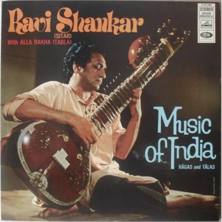 Ravi Shankar With Allah Rakha - Music Of India - Ragas And Talas - LP Vinyl Album - India