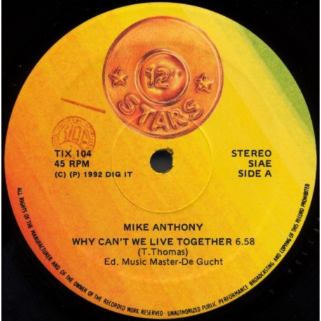 Mike Anthony / Tony Mc Kenzie – Why Can't We Live Together / Ah Chica - Maxi Vinyl 12 inches - Disco Music