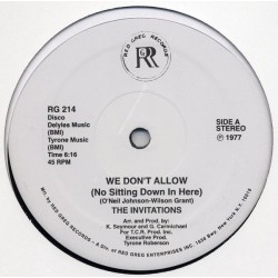 The Invitations ‎– We Don't Allow - Funky Road - Maxi Vinyl 12 inches - Disco Funk Music