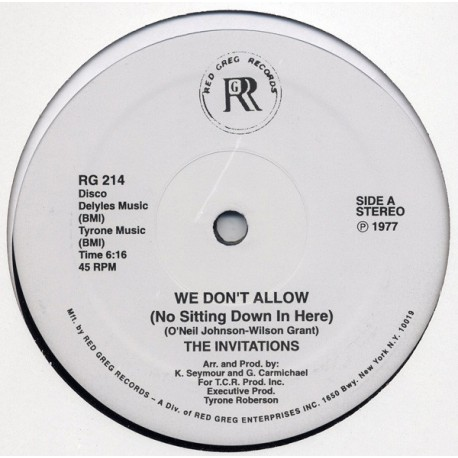 The Invitations – We Don't Allow - Funky Road - Maxi Vinyl 12 inches - Disco Funk Music