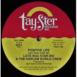 Love Bug Star-Ski & The Harlem World Crew – Positive Life - Maxi Vinyl 12 inches - Hip Hop US