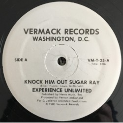 Experience Unlimited ‎– Knock Him Out Sugar Ray / E.U. Freeze - Maxi Vinyl 12 inches - Hip Hop US