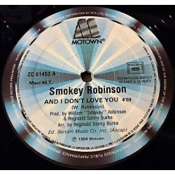 Smokey Robinson ‎– And I Don't Love You / Dynamite - Maxi Vinyl 12 inches Promo - Soul Funk