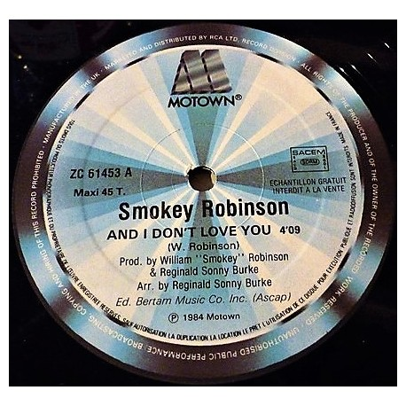 Smokey Robinson – And I Don't Love You / Dynamite - Maxi Vinyl 12 inches Promo - Soul Funk