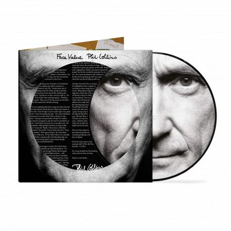 Phil Collins (Genesis) - Face Value - LP Vinyl Album Picture Disc - Pop Rock Music
