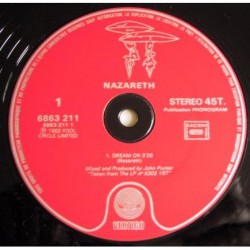 Nazareth - Dream On - Maxi Vinyl 12 inches Promo - Hard Rock