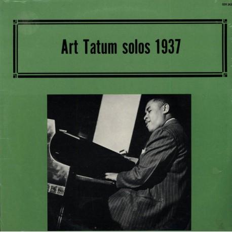 Art Tatum - Solos 1937 - LP Vinyl Album - Jazz Swing