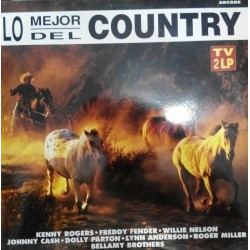 Various ‎– Lo Mejor Del Country- Compilation - Double Disque Vinyl