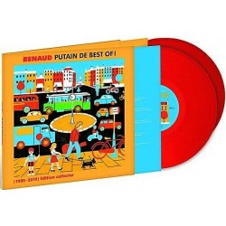 Renaud - Putain De Best Of 1985 - 2019 - Double LP Vinyl Album - Couloured Red Collector - French Songs