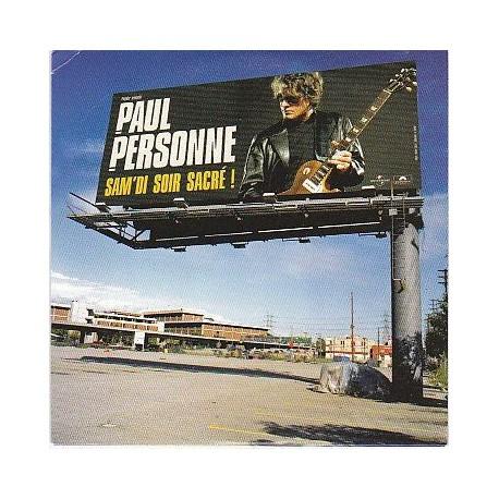 Paul Personne - Sam'di Soir Sacré - CD Single Promo