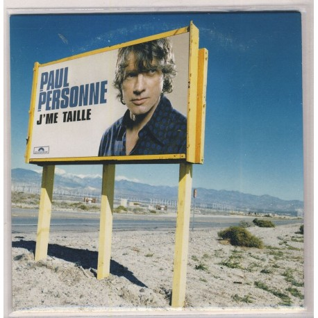 Paul Personne - J'Me Taille - CD Single Promo