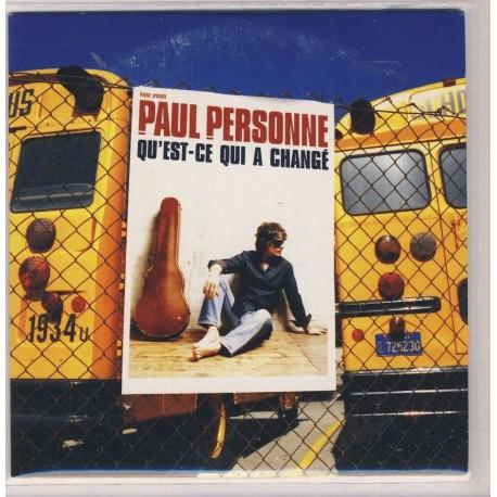 Paul Personne - Qu'est Qui A Changé - CD Single Promo