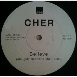 Cher - Believe - Double Maxi Vinyl 12 inches - Promo Edition - Pop House Music