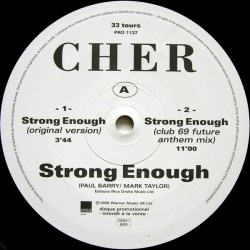 Cher - Strong Enough - Maxi Vinyl 12 inches - Promo France - House Pop Music