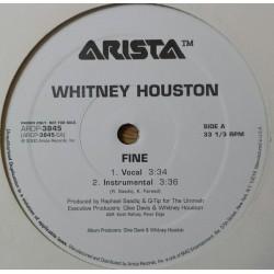 Whitney Houston - Fine - Maxi Vinyl 12 inches - Promo USA - House Music