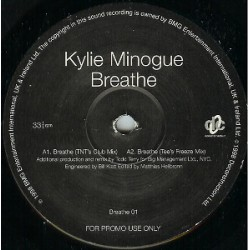 Kylie Minogue - Breathe - Maxi Vinyl 12 inches Promo - House Pop Music