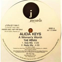 Alicia Keys - A Woman's Worth (The Remix) - Maxi Vinyl 12 inches Promo - Rap US Swing RnB