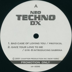 Neo Techno DX - Maxi Vinyl 12 inches - Techno House