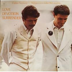Carlos Santana & Mahavishnu John McLaughlin - Love Devotion Surrender - LP Vinyl Album USA - Jazz Rock Music