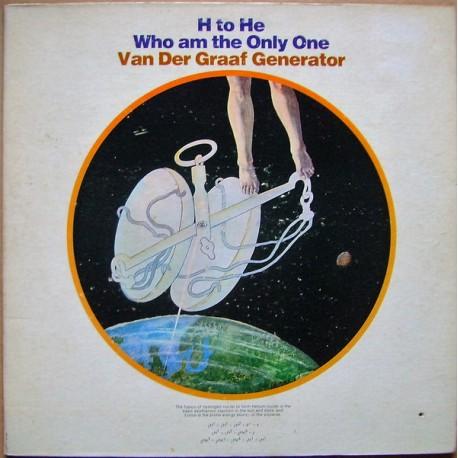 Van Der Graaf Generator - H To He Who Am The Only One - LP Vinyl Album USA - Progressive Rock